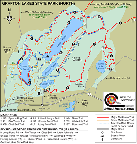 Green Lakes State Park Trail Map